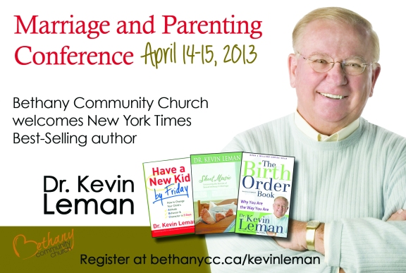 Kevin Leman marriage and parenting conference