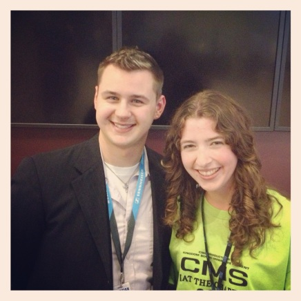 Brandon Grinder of WDCX and Mindy Lamb of Salter's Christian Music