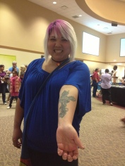 Julee's tattoo for God, her Father