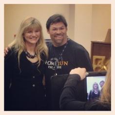 Vocal teacher Sheri Gould and North Carolina's Mark Pergerson